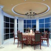 欧式别墅型餐厅室内设计装修效果图