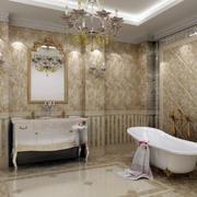 欧式大户型精致的卫生间室内装修效果图