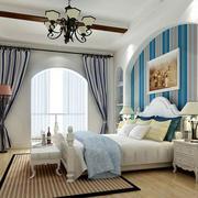 地中海风格自然轻快卧室装修效果图