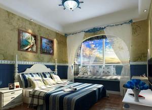 130平米地中海风格卧室装修效果图