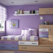 紫色梦幻女生儿童房装修效果图