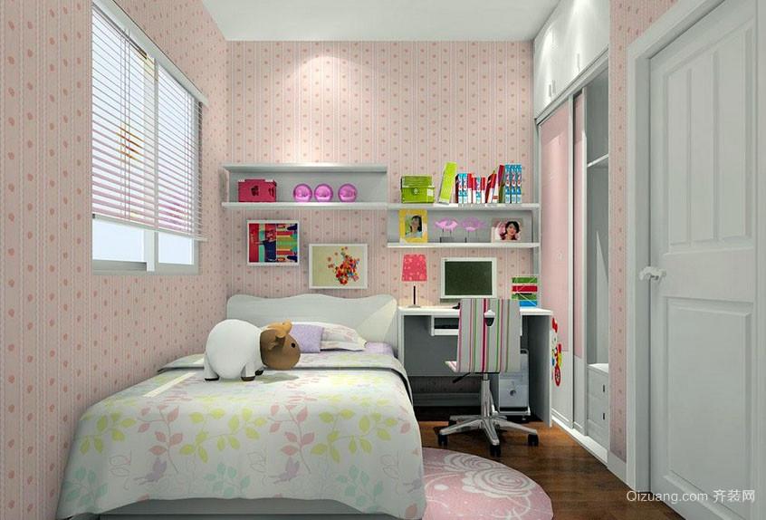 现代简约风格自然清新卧室装修效果图