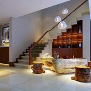 2016欧式别墅室内楼梯设计装修效果图