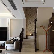 现代简约别墅室内楼梯装修设计效果图