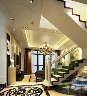 大户型精致欧式室内楼梯设计装修效果图