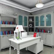 小户型精致现代简约书房设计装修效果图