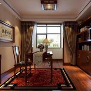 2016大户型精致的中式书房装修效果图