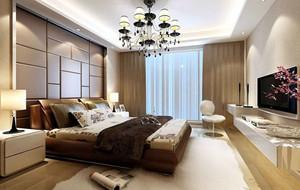 120平米现代简约风格卧室吊顶装修效果图