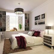 现代简约卧室飘窗设计