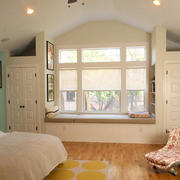 简欧风格自然卧室飘窗装修效果图