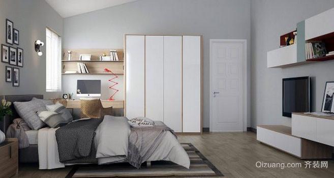 都市朴素自然风格卧室装修效果图