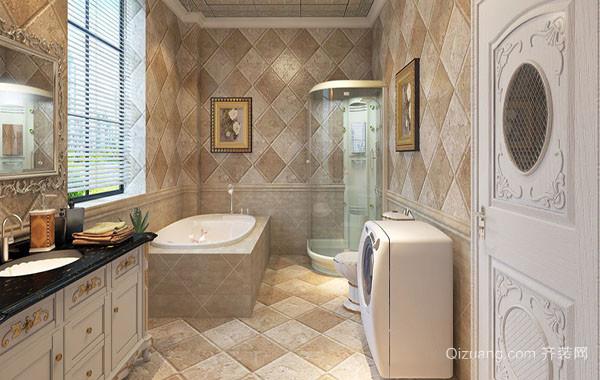 欧式风格精致卫生间装修效果图