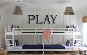 100平米大户型室内儿童房高低床装修效果图