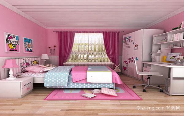 可爱时尚儿童房装修效果图大全