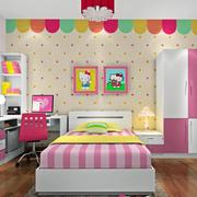 可爱可通女生儿童房装修效果图