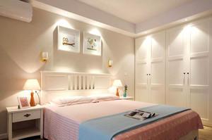 北欧风格自然轻松风格卧室背景墙效果图