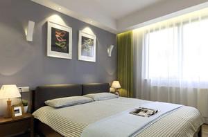 极简主义风格卧室窗帘装修效果图鉴赏