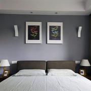 小户型现代简约风格卧室背景墙装修效果图