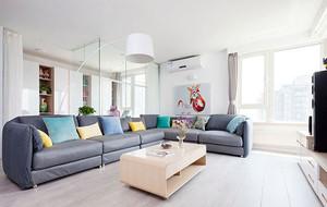 北欧风格简约时尚客厅装修效果图