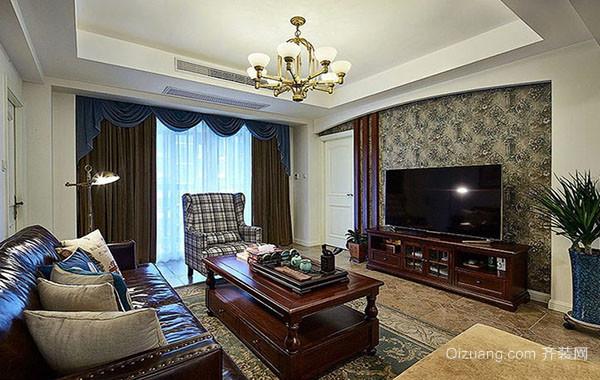 美式风格自然精致客厅装修效果图