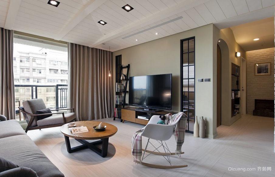 极简主义北欧风格客厅装修效果图