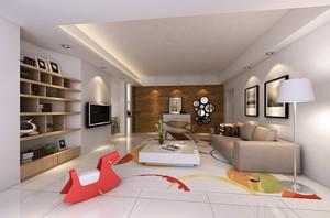 后现代风格简约大客厅装修效果图