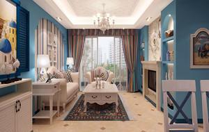 地中海风格自然舒适客厅装修效果图