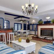 地中海风格客厅唯美吊灯设计