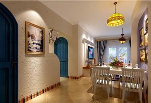 别墅型地中海风格餐厅吊顶装修效果图欣赏
