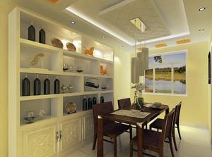 100平米大户型欧式餐厅酒柜装修效果图实例