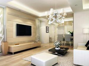 大户型简约风格客厅背景墙装修效果图