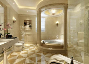 别墅型欧式风格精致卫生间装修效果图