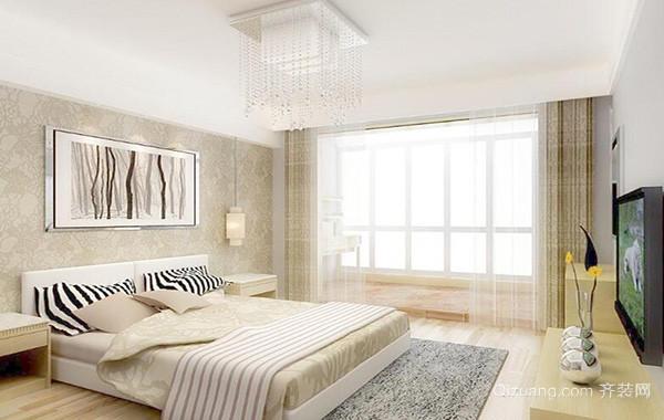 小户型简约风格卧室背景墙装修效果图鉴赏