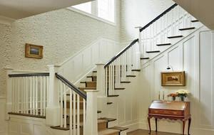精致的欧式别墅型室内楼梯装修设计效果图