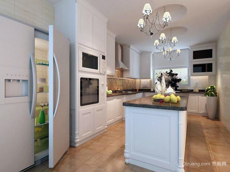 大户型欧式开放式厨房装修效果图鉴赏
