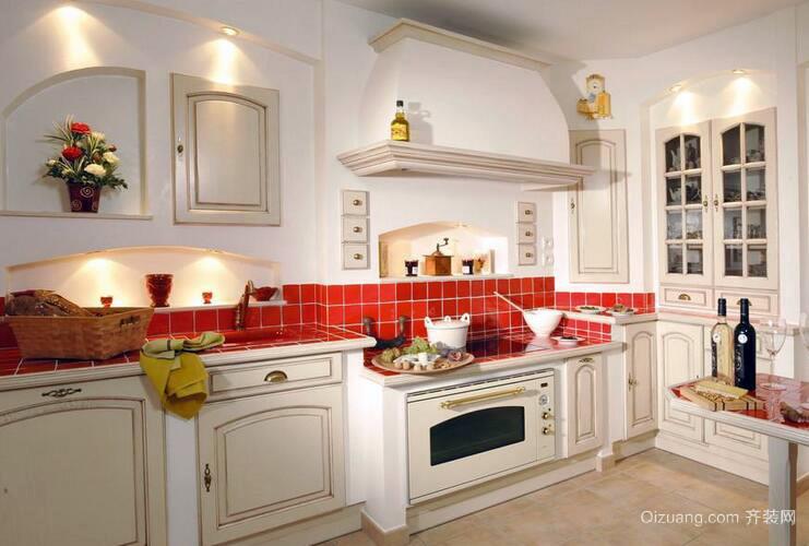 欧式小户型精致的厨房装修效果图鉴赏