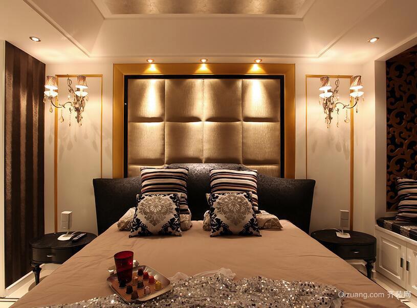 90平米欧式风格卧室装修设计效果图