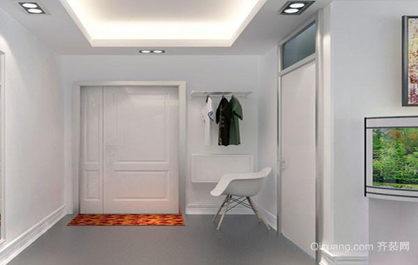 现代简约时尚大户型玄关装修效果图
