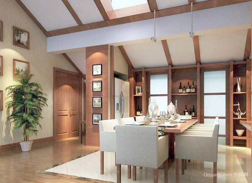 90平米简约风格餐厅装修设计效果图