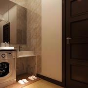 现代简约风格卫生间洗漱台装修效果图