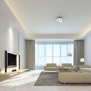 现代简约大户型时尚客厅装修效果图