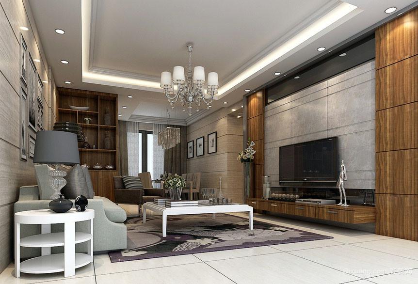 130平米大户型现代美式风格客厅装修效果图