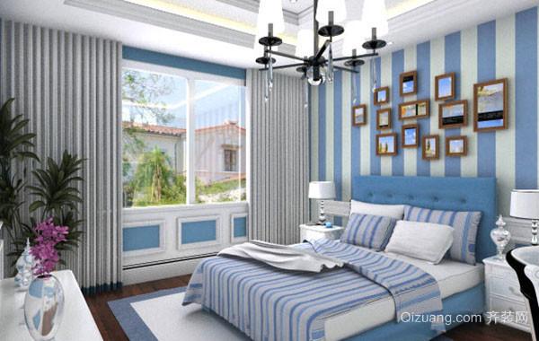 110平米时尚地中海风格卧室装修效果图