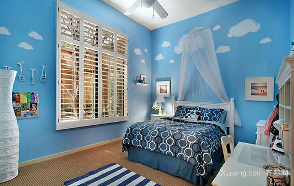 蓝色海洋地中海风格卧室装修效果图大全