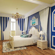 地中海风格 卧室窗帘