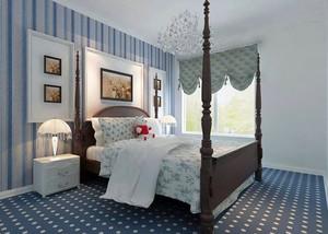 地中海风格大户型卧室背景墙装修效果图