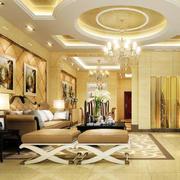 欧式风格精致的大户型别墅吊顶装修效果图