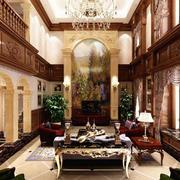 欧式风格别墅室内背景墙装修效果图实例