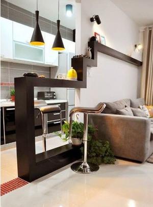 5平米现代简约风格吧台装修效果图
