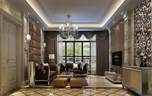 豪华别墅欧式风格优雅别致客厅装修效果图